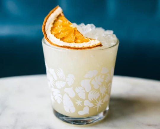 The No. 2 Cocktail from Bellhop was featured as the drink recipe of the day on Imbibe magazine's website. The drink is made with gin and mezcal.