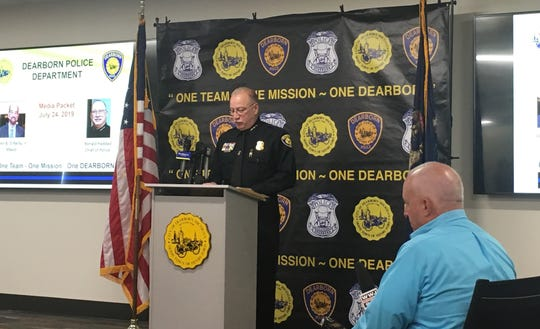 Dearborn Police Department press conference July 24, 2019.