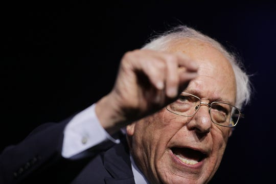 U.S. Senator Bernie Sanders I-Vermont, speaks during the Presidential Candidates forum hosted by the National Association for the Advancement of Colored People (NAACP)  Wednesday, July 24, 2019 at Cobo Center in Detroit.