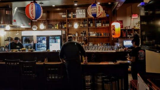 The bar at Izakaya Katsu Detroit on Wednesday, Jan. 2, 2019.