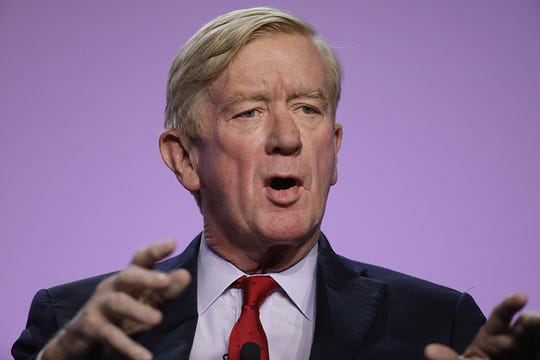 Former Massachusetts Governor Bill Weld and candidate for president speaks during the Presidential Candidates forum hosted by the National Association for the Advancement of Colored People (NAACP)  Wednesday, July 24, 2019 at Cobo Center in Detroit.