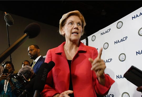 Warren's 2020 message is clear: Reform the financial system and give struggling families an opportunity to thrive and make a decent living, Thompson says.
