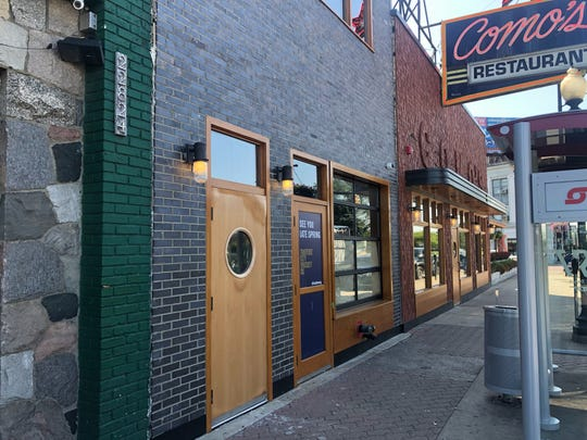 The exterior of Traverse City Whiskey Co.'s Ferndale tasting room on Woodward just north of Nine Mile.