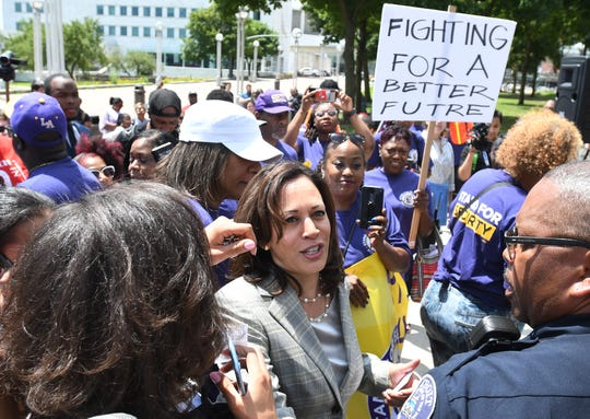 Experts say while Sen. Kamala Harris has to overcome some challenges, she's been gaining credibility as a major Democratic presidential contender.