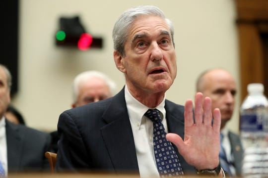 Former special counsel Robert Mueller testifies before the House Judiciary Committee hearing on his report on Russian election interference, on Capitol Hill, in Washington, Wednesday, July 24, 2019.