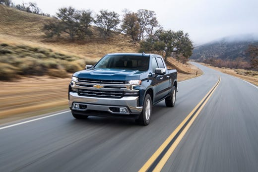 The rear-wheel drive diesel Silverado is rated at 33 mpg