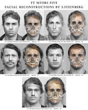 The unidentified remains of five men found in Fort Myers spurred the department to set up Missing Persons Day. Reconstructions of the Fort Myers five were updated in January of this year.