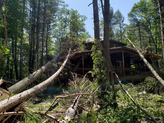 At least three trees fell on the Nature Center at Camp U-Nah-Li-Ya in Oconto County during storms on July 19-20.