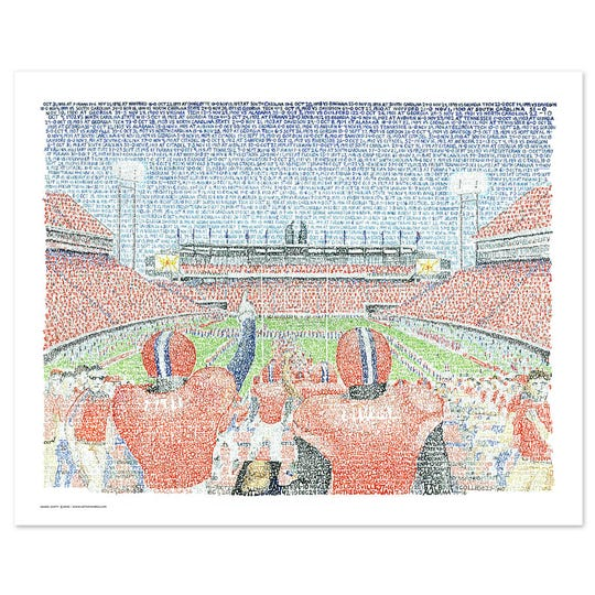 Artist Dan Duffy's depiction of Clemson's Memorial Stadium