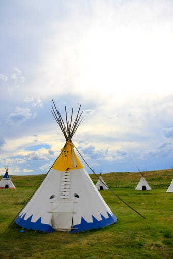 The tipi village at the Lodgepole Gallery and Tipi Village in Browning