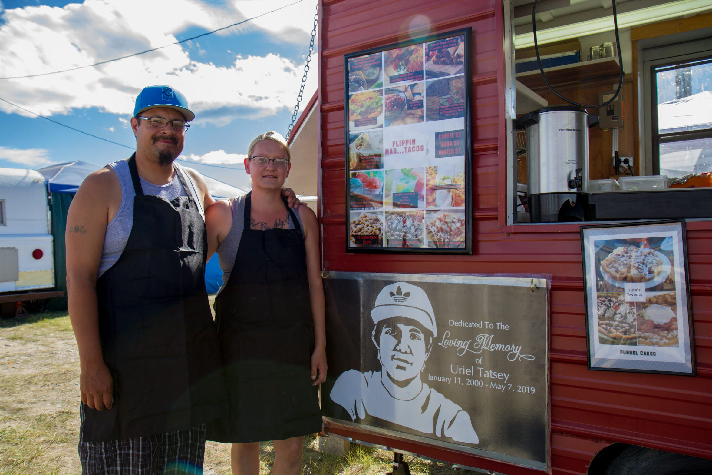 Casey and Jennifer Ehlers renovated and opened their food camper in memory of their nephew, Uriel Tatsey