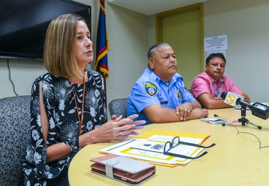 Samantha Brennan, left, former Department of Corrections director resigned suddenly Friday, days after the governor outlined plans to hire more officers to help DOC. PDN file photo.