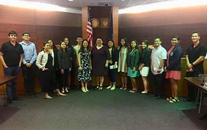 Sixteen students from the first Civics Education Camp graduated July 19 at the  District Court of Guam. During the seven weeks of camp, in addition to the ICivics curriculum, this program offered the students a very ambitious agenda with a very rare opportunity of learning from, visiting with, and touring local and federal agencies within the three branches of government.