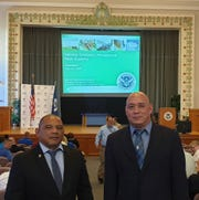 Frank V. Lujan and Joseph F. Leon Guerrero Jr., completed the Foundation of Emergency Management Academy held July 15-19 at the National Emergency Training Center in Emmitsburg Maryland. The academy consists of a 160 contact classroom hour with the state, local, city, county and territories in the emergency managers.