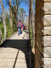 The famous swinging bridge in Tishomingo State Park.