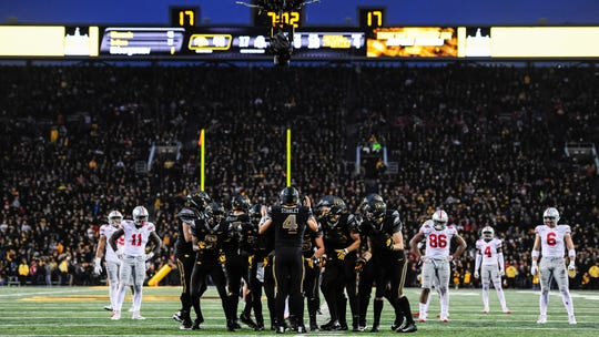 if they meet in the Big Ten Championship Game, it'll be the first matchup between Iowa and Ohio State since Nov. 4, 2017, at Kinnick Stadium. Iowa won that game, 55-24.