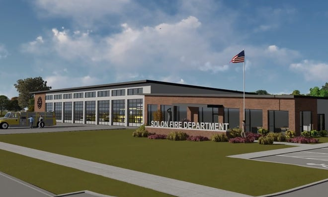 A rendering of what the Solon Fire Department hopes will be their new firehouse.