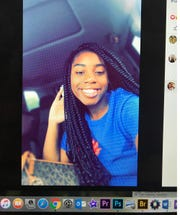 This photo of a computer screen shows Arykah Patrice White, 16, who was fatally shot while attending a sweet sixteen birthday party at Propst Park in Columbus Saturday, July 20, 2019.