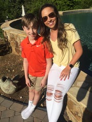 Morgan Morton and her little brother, James Ayres.