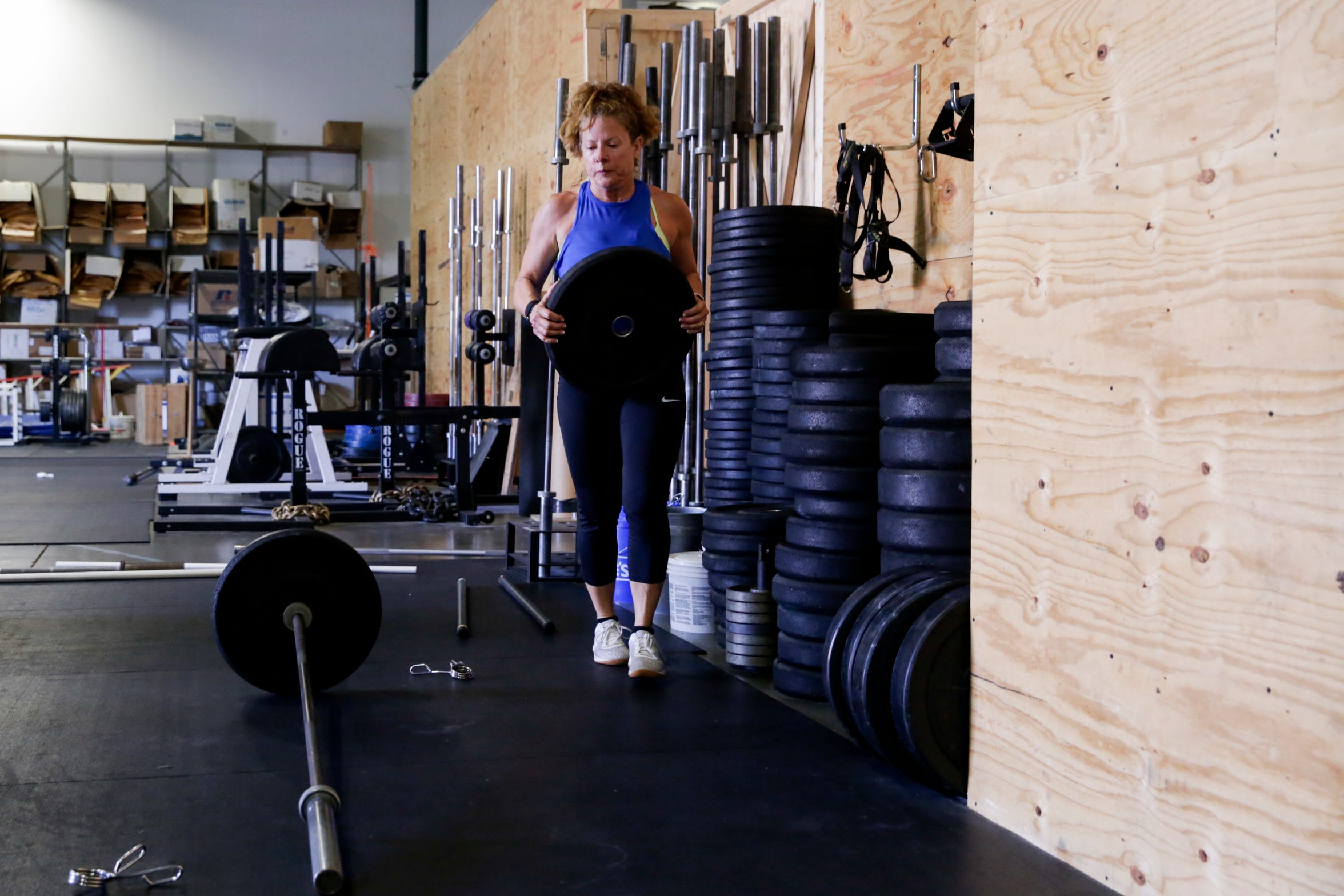 Julie Holt works out at Crossfit Uncommon, Wednesday, July 24, 2019 in Lafayette.