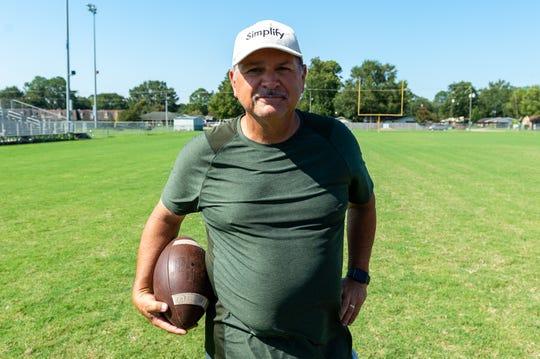 Highland Baptist football head coach Rick Hutson