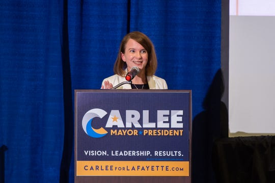 The 'Big Tent' series hosted by candidate for Mayor/President Carlee Alm-Labar. Tonight, drainage was the topic for the event held at the Cajundome Convention Center. Tuesday, July 23, 2019.