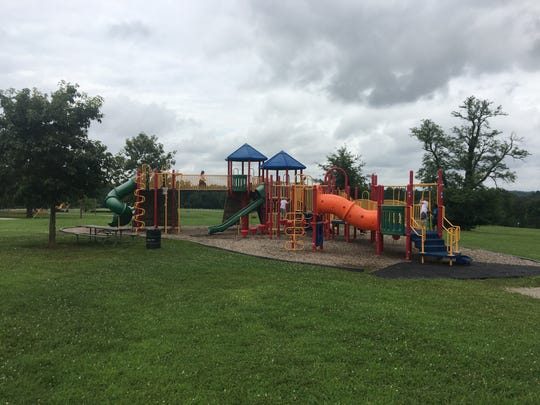 The playground at Charlie Vettiner Park