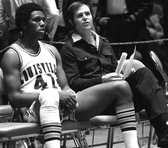 Wesley Cox was Kentucky's Mr. Basketball and a third-team All-America selection by Parade Magazine in 1973 after averaging 19.5 points and 13 rebounds per game. As a sophomore, he was a top reserve on Male High School's 1971 state championship squad. Cox went on to play at the University of Louisville and was selected by the Golden State Warriors in the first round of the 1977 NBA Draft. He played two seasons (1977-79) in the NBA. Dec. 6, 1975.