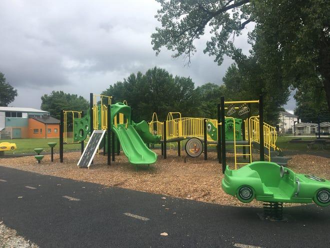 The playground at the Molly Leonard Portland Community Center.