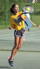 Ella Butcher of Ontario won the girls 10 singles title Tuesday in the 86th News Journal/Richland Bank Tennis Tournament at Lakewood Racquet Club