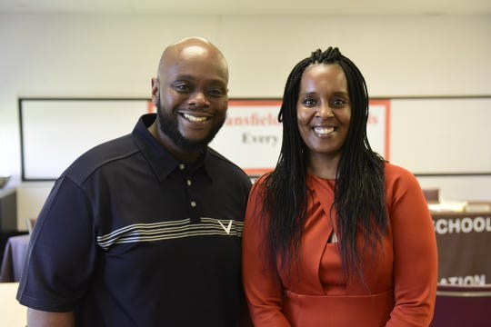 Jason Douglas, left, and Marinise Harris are the new principals of Mansfield's middle and high schools, respectively.