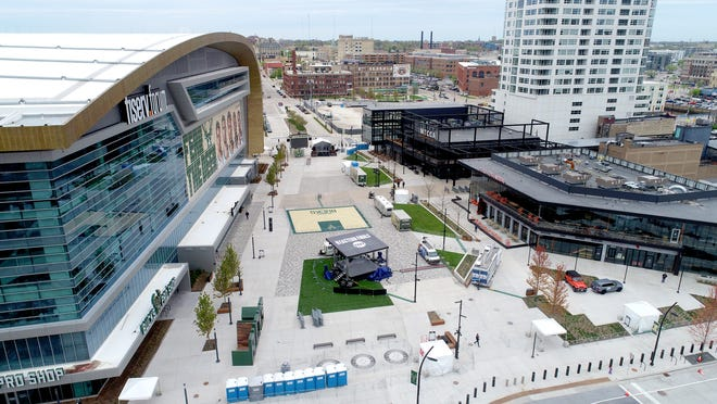 Fiserv Forum and the Deer District entertainment area will be at the center of the 2020 Democratic National Convention in July 2020.