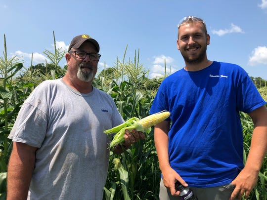 Since early April, farmers  Blane Poulson and Jon Troiola have been preparing this sweet corn crop destined for the New Berlin Lions Club Corn roast at the Wisconsin State Fair.