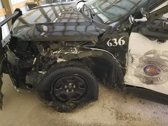 A drunken driver hit a village of Pewaukee Police Department squad early July 21, according to a criminal complaint.