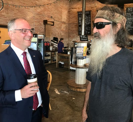 Gov. John Bel Edwards and 'Duck Dynasty' patriarch Phil Robertson discuss politics and hunting.