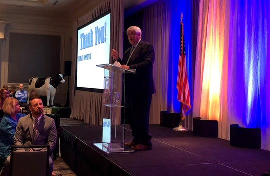 Williamson County Mayor Rogers Anderson gives his annual State of the County address on Wednesday, July 24, 2019.