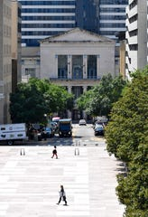 Dan Biederman wants to create a plan for the historic corridor that runs from the limestone columned Tennessee State Capitol to the modern classical-styled Metro Public Library along and around 6th Ave. N.  Wednesday, July 24, 2019, in Nashville, Tenn.