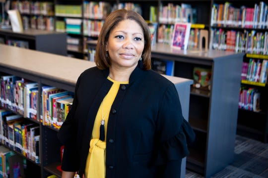 MNPS interim superintendent Dr. Adrienne Battle poses for a portrait at McMurray Middle School Tuesday, July 23, 2019, in Nashville, Tenn.