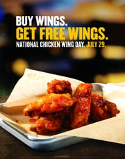Buffalo Wild Wings is offering a free snack-size order of wings with the purchase of an order of wings in any size.