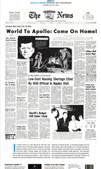 Naples Daily News frontpage from July 21, 1969.