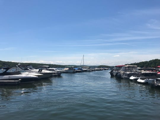 Greenwood Lake is seen from a dock on Greenwood Lake Marina in West Milford on June 26, 2018.