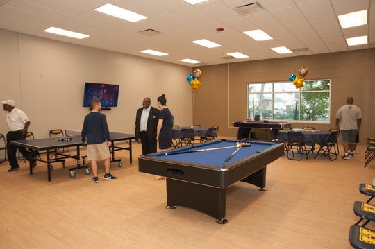Game room at the M&M Rec Center in Hackensack