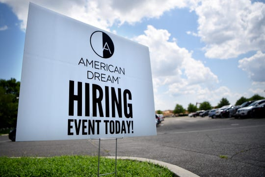 American Dream Hiring Event at Bergen Community College Meadowlands Campus in Lyndhurst  on Wednesday July 24, 2019.