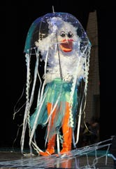 """Stevey Almanza took 2018 GADR Queen honors with a flashy and creative jelly fish costume. Last year's theme was """"Racing Under the Sea."""""""