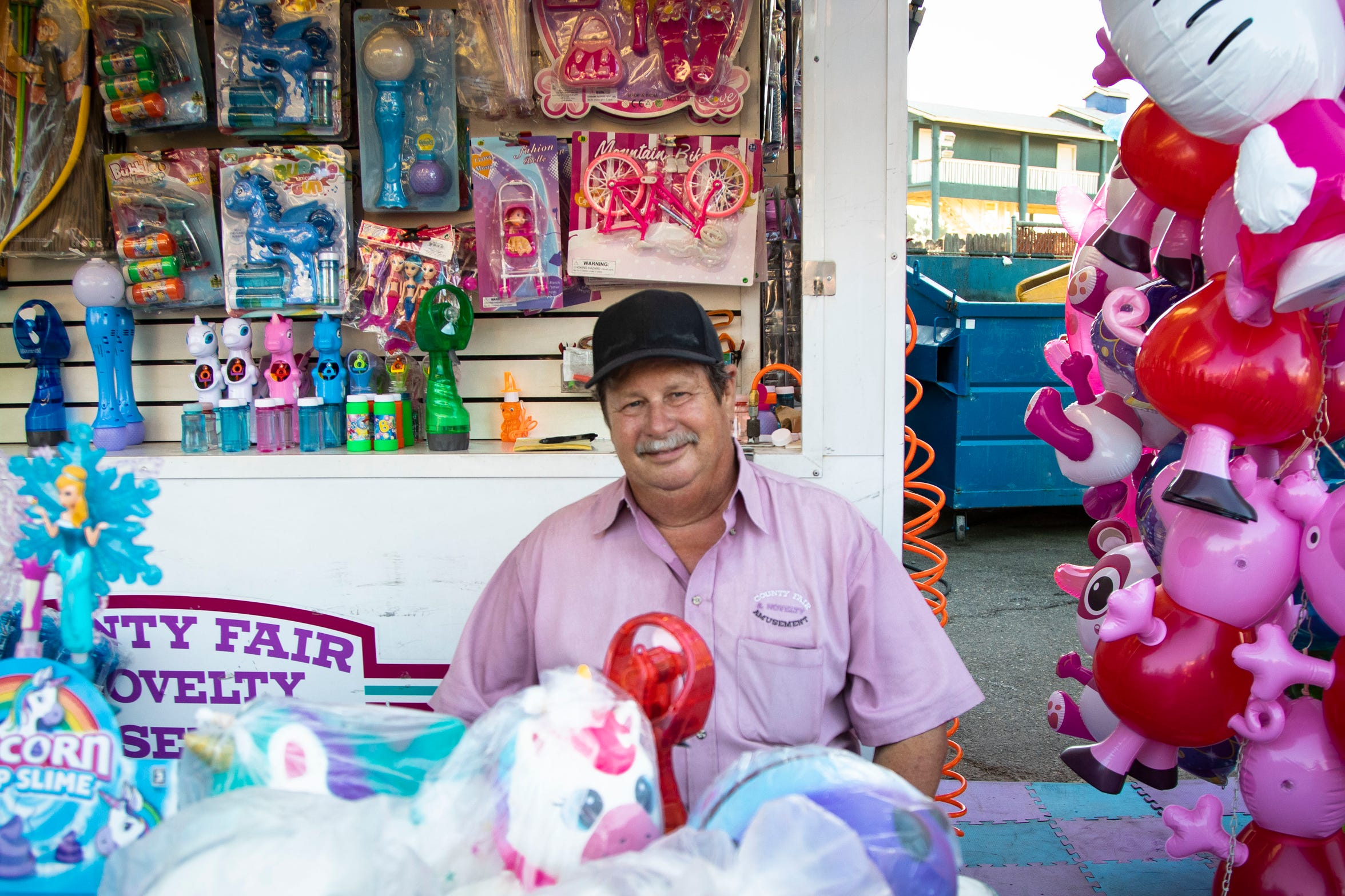 Dennis Griffett sells souvenirs at the 2019 California State Fair.