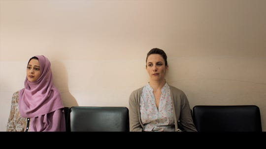 "Maisa Abd Elhadi (left) Sivane Kretchner star in ""The Reports on Sarah and Saleem."""