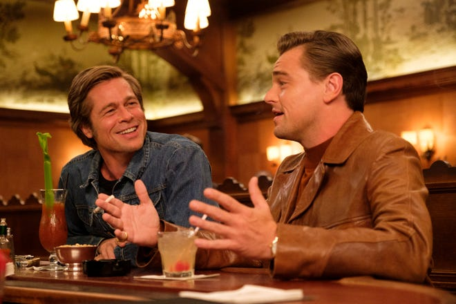 "Cliff (Brad Pitt, left) and Rick (Leonardo DiCaprio) are friends in ""Once Upon a Time ... in Hollywood."""