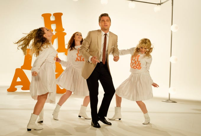 """Rick Dalton (Leonardo DiCaprio) makes a guest appearance on """"Hullabaloo"""" in  """"Once Upon a Time ... in Hollywood."""""""