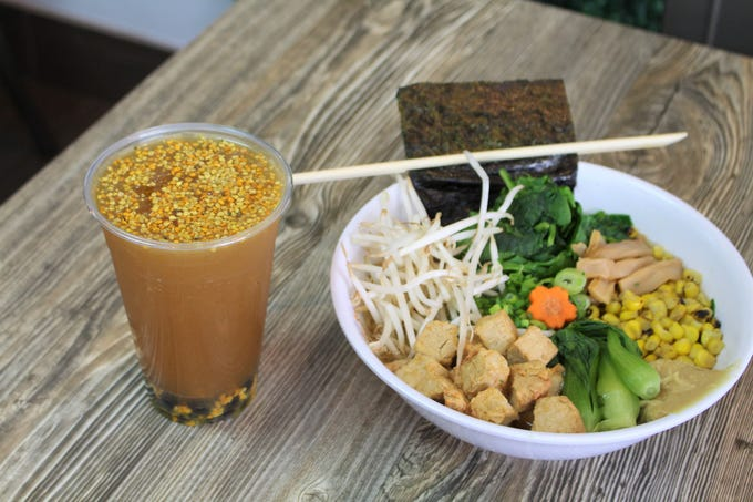 Bubble Noodle in Mesa serves a small menu of customizable ramen and boba drinks.