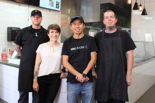 Left to right: Chef Jared Lupin, Katherine Giaardina, Elvis Ky and Ethan Zick of Bubble Noodle in Mesa.